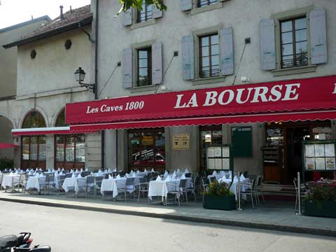 Restaurant de La Bourse, Carouge